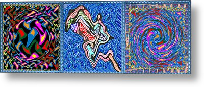 Grand Canvas Abstract Collection Seascape Waves Tornado Island Nightmare Metal Print