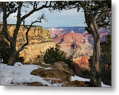 Grand Canyon At Sunrise Metal Print by Mary Lee Dereske