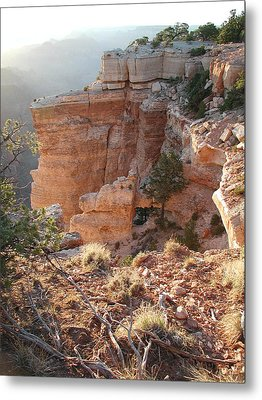 Metal Print featuring the photograph Grand Canyon Bluff by Nancy Taylor