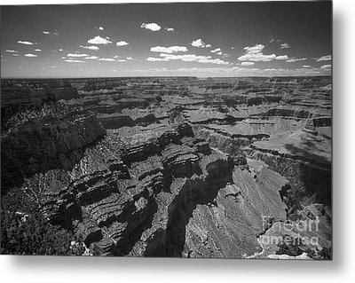 Metal Print featuring the photograph Grand Canyon Bw1 by Stan and Anne Foster