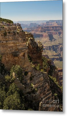 Grand Canyon Crowds Metal Print by Jamie Pham