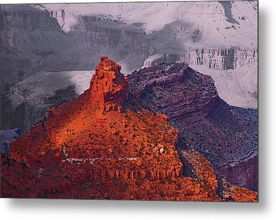 Grand Canyon In Red And Blue Metal Print by Viktor Savchenko