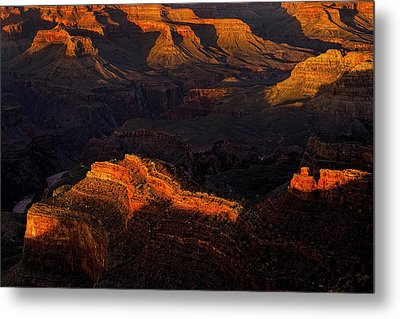 Grand Canyon Light And Shadows Metal Print by Andrew Soundarajan