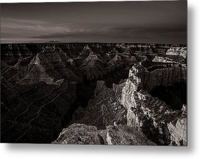Grand Canyon Monochrome Metal Print by Scott McGuire