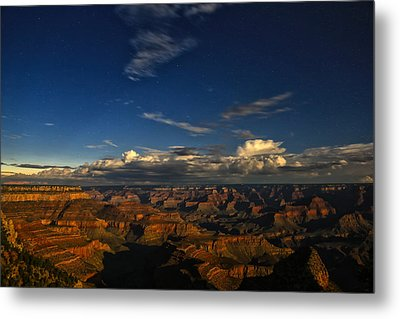 Grand Canyon Moonlight Metal Print by James Menzies