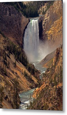 Grand Canyon Of The Yellowstone Metal Print by Robert Pilkington