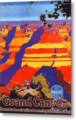 Grand Canyon - Santa Fe Metal Print by Roberto Prusso