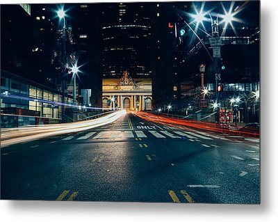 Grand Central Light Trails Metal Print by Ryan Howard