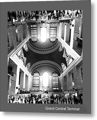 Metal Print featuring the photograph Grand Central Terminal Mirrored by Diana Angstadt