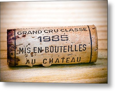 Grand Cru Classe Bordeaux Wine Cork Metal Print by Frank Tschakert