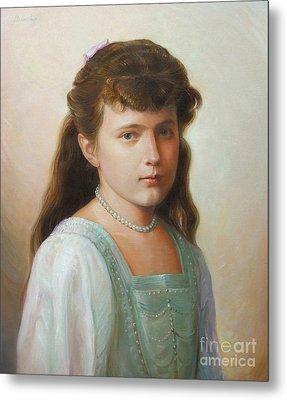 Grand Duchess Anastasia Nikolaevna Of Russia Metal Print by George Alexander