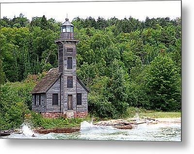 Grand Island East Channel Lighthouse #6680 Metal Print