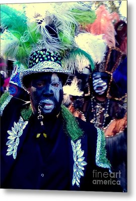 Grand Marshall Of The Zulu Parade Mardi Gras 2016 In New Orleans Metal Print