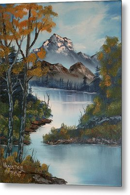 Grand Mountain Metal Print by Larry Hamilton