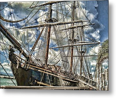 Metal Print featuring the photograph Grand Old Sailing Ship by Roberta Byram