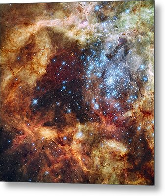 Grand Star Forming - A  Stellar Nursery Metal Print by Mark Kiver