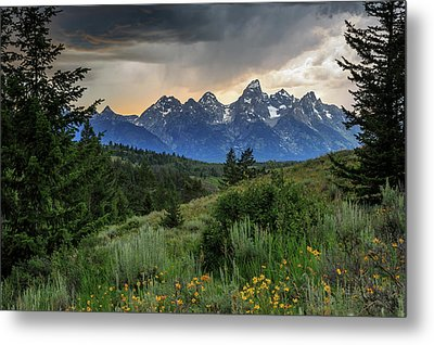 Grand Stormy Sunset Metal Print by David Chandler