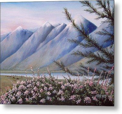 Grand Teton Mountains Metal Print by Allan Carey