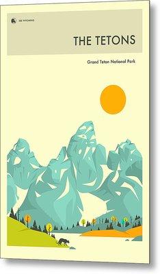 Grand Teton National Park Metal Print by Jazzberry Blue