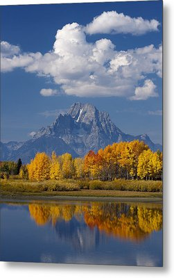 Grand Teton Xii Metal Print by John Blumenkamp