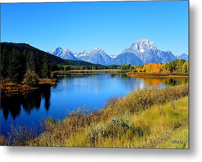 Grand Tetons 1 Metal Print by Carrie Putz