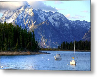 Grand Tetons Metal Print by Charlotte Schafer