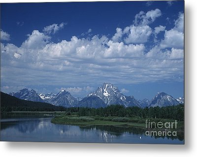 Grand Tetons In Spring Metal Print by Stan and Anne Foster