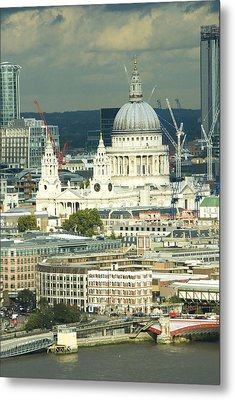 Grand View Of Central London Metal Print by Charles  Ridgway