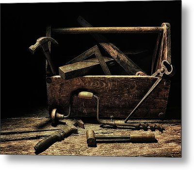 Metal Print featuring the photograph Granddad's Tools by Mark Fuller