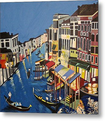 Grande Canal Metal Print by Donna Blossom