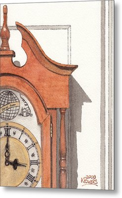 Grandfather Clock Metal Print by Ken Powers