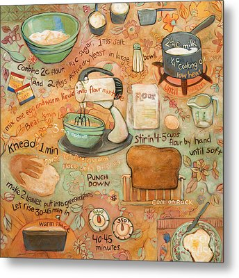 Grandmas Bread Recipe Metal Print by Jen Norton