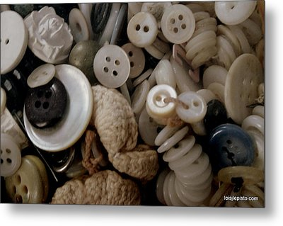 Metal Print featuring the photograph Grandma's Buttons by Lois Lepisto