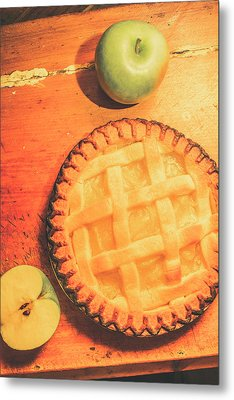 Grandmas Homemade Apple Tart Metal Print by Jorgo Photography - Wall Art Gallery