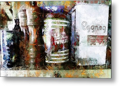 Metal Print featuring the photograph Grandma's Kitchen Tins by Claire Bull