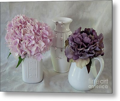Metal Print featuring the photograph Grandmother's Vanity Top by Sherry Hallemeier