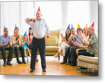Grandpa's Birthday Dance Metal Print by Diane Diederich