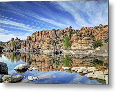 Granite Dells At Watson Lake Metal Print by Donna Kennedy