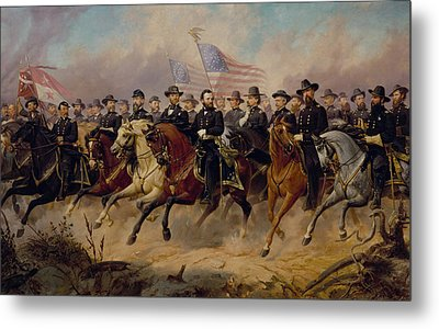 Grant And His Generals Metal Print by War Is Hell Store
