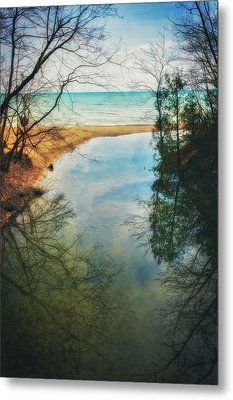 Metal Print featuring the photograph Grant Park - Lake Michigan Shoreline by Jennifer Rondinelli Reilly - Fine Art Photography