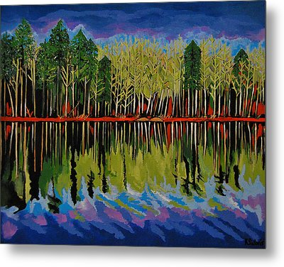 Metal Print featuring the painting Grant's Lake Reflections by Kathleen Sartoris