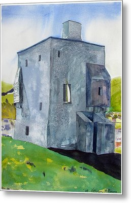 Granuaile's Castle Behind The Hill Metal Print