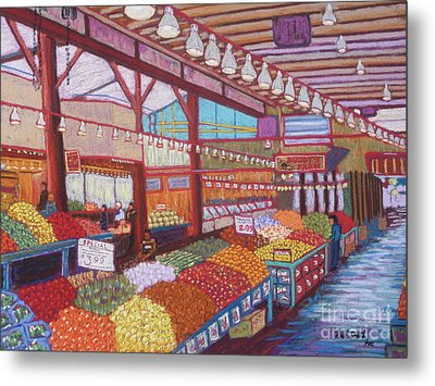 Granville Island Market Bc Metal Print by Rae  Smith