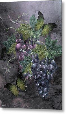Grape Clusters Metal Print
