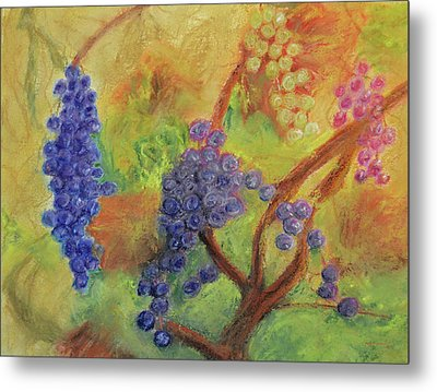 Grape Collage Metal Print