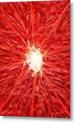 Grapefruit Close-up Metal Print by Johan Swanepoel