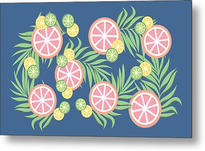 Grapefruit  Metal Print by Lauren Amelia Hughes