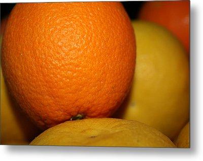 Grapefruit Orange Metal Print by Joshua Sunday