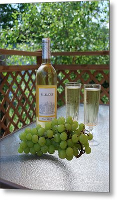 Grapes And Wine Metal Print by Gordon Mooneyhan