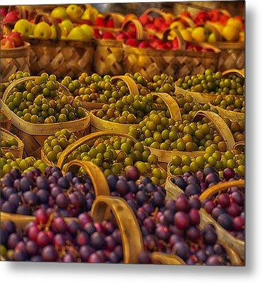 Grapes Galore Metal Print